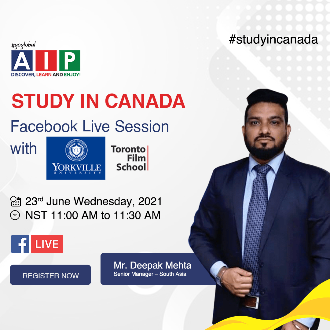 Study In Canada-Yorkville University Live Facebook Session AIP Education
